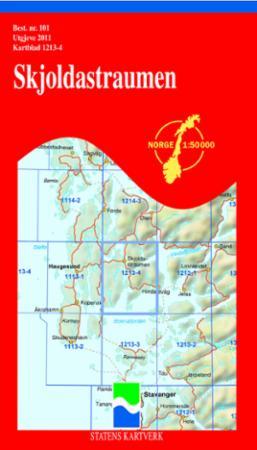 skjoldastraumen kart Skjoldastraumen (Kart, falset)   Turkart | Tanum nettbokhandel skjoldastraumen kart