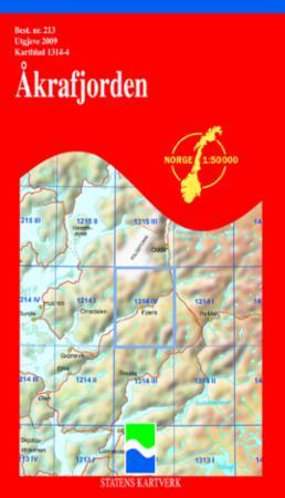 åkrafjorden kart Åkrafjorden (Kart, falset)   Turkart | Tanum nettbokhandel åkrafjorden kart