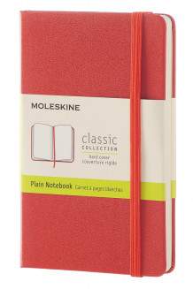 Moleskine coral orange pocket plain note av Moleskine, (Innbundet)