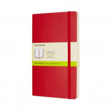 Moleskine scarlet red large plain notebook soft (Heftet)