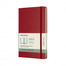 2019 moleskine notebook scarlet red large weekly 18-month diary hard (july (Heftet)