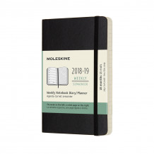 2019 moleskine notebook black pocket weekly 18-month diary soft (july 2018 (Heftet)
