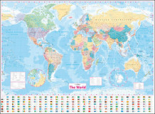 Collins World Wall Laminated Map av Collins Maps (Kart, plano)