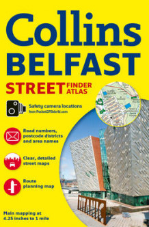 Belfast Streetfinder Colour Atlas av Collins Maps (Heftet)