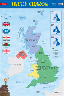 Collins Primary Atlases: United Kingdom: Wall Map av Collins Maps (Kart, rullet)