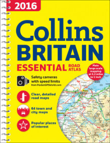 2016 Collins Essential Road Atlas Britain av Collins Maps (Spiral)