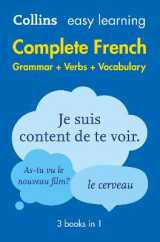 Omslag - Easy Learning French Complete Grammar, Verbs and Vocabulary (3 books in 1)