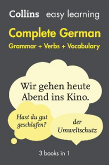 Easy Learning Complete German Grammar, Verbs and Vocabulary (3 Books in 1) av Collins Dictionaries (Heftet)