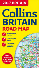 Omslag - 2017 Collins Map of Britain