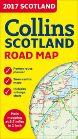 Omslag - 2017 Collins Map of Scotland
