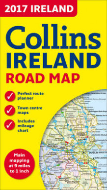 2017 Collins Map of Ireland av Collins Maps (Kart, falset)