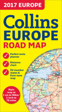 2017 Collins Map of Europe av Collins Maps (Kart, falset)