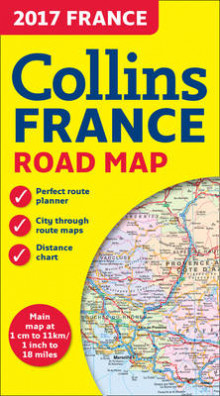 2017 Collins Map of France av Collins Maps (Kart, falset)