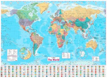Collins World Wall Paper Map av Collins Maps (Kart, plano)