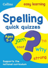 Omslag - Collins Easy Learning KS1: Spelling Quick Quizzes Ages 5-7