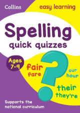 Omslag - Collins Easy Learning KS2: Spelling Quick Quizzes Ages 7-9
