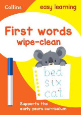 Omslag - First Words Age 3-5 Wipe Clean Activity Book