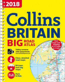 2018 Collins Big Road Atlas Britain av Collins Maps (Spiral)