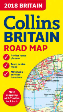 2018 Collins Map of Britain av Collins Maps (Kart, falset)
