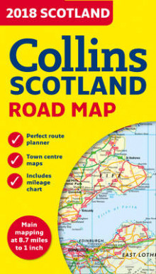 2018 Collins Map of Scotland av Collins Maps (Kart, falset)