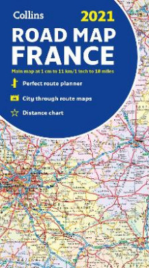 Map of France 2021 av Collins Maps (Kart, falset)