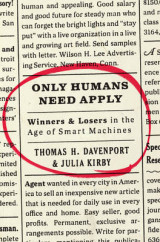 Omslag - Only Humans Need Apply