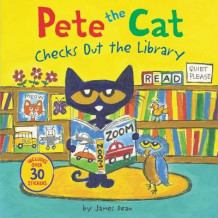 Pete the Cat Checks Out the Library av James Dean (Heftet)