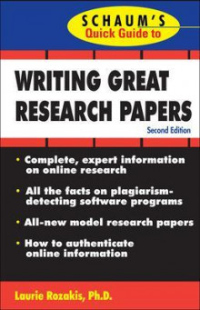Schaum's Quick Guide to Writing Great Research Papers av Laurie Rozakis (Heftet)