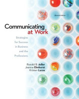 Omslag - Looseleaf Communicating at Work: Strategies for Success in Business and the Professions