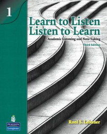 Learn to Listen, Listen to Learn 1: Academic Listening and Note-Taking (Student Book and Classroom Audio CD) av Roni S. Lebauer (Blandet mediaprodukt)