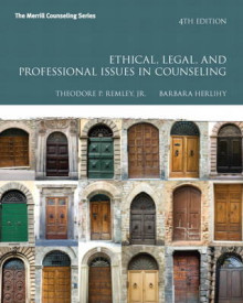 Ethical, Legal, and Professional Issues in Counseling av Theodore P. Remley Jr. og Barbara Herlihy (Heftet)