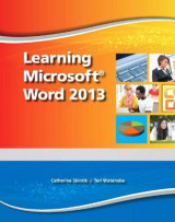 Omslag - Learning Microsoft Word 2013, Student Edition -- CTE/School
