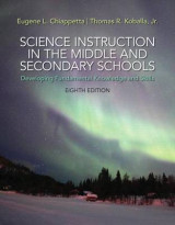 Omslag - Science Instruction in the Middle and Secondary Schools with Access Card