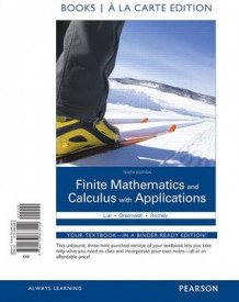 Finite Mathematics and Calculus with Applications Books a la Carte Edition av Margaret L Lial, Raymond N Greenwell og Nathan P Ritchey (Perm)