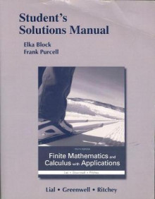 Student's Solutions Manual for Finite Mathematics and Calculus with Applications av Margaret L. Lial, Raymond N. Greenwell og Nathan P. Ritchey (Heftet)