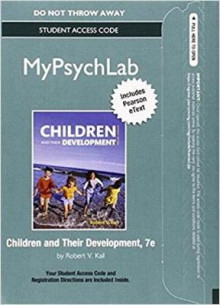 New Mypsychlab with Pearson Etext -- Standalone Access Card -- For Children and Their Development av Robert V Kail (Blandet mediaprodukt)