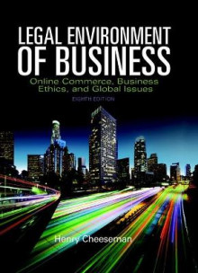 The Legal Environment of Business av Henry R. Cheeseman (Innbundet)