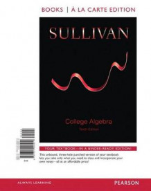 College Algebra, Books a la Carte Edition Plus New Mymathlab -- Access Card Package av Affiliation Michael Sullivan (Blandet mediaprodukt)