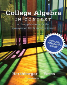 College Algebra in Context with Integrated Review Plus MML Student Access Card and Sticker av Lisa S. Yocco og Ronald J. Harshbarger (Blandet mediaprodukt)