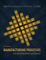Omslag - Manufacturing Processes for Engineering Materials