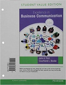 Excellence in Business Communication, Student Value Edition av John V Thill og Courtland L Bovee (Perm)