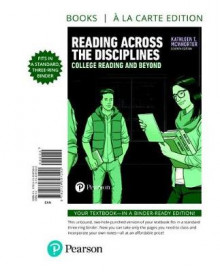 Reading Across the Disciplines av University Kathleen T McWhorter (Perm)