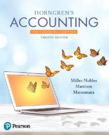 Horngren's Accounting, The Financial Chapters av Tracie L. Miller-Nobles, Brenda L. Mattison og Ella Mae Matsumura (Heftet)