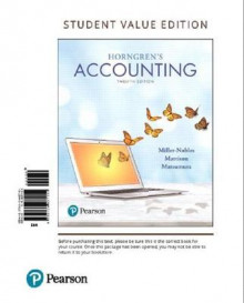 Horngren's Accounting, Student Value Edition av Tracie L Miller-Nobles (Perm)