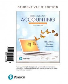 Horngren's Accounting, the Financial Chapters, Student Value Edition av Tracie L Miller-Nobles (Perm)
