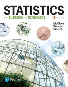 Statistics for Business and Economics Plus Mystatlab with Pearson Etext -- Access Card Package av James T McClave, P George Benson og Terry Sincich (Blandet mediaprodukt)