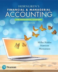 Horngren's Financial & Managerial Accounting, the Managerial Chapters Plus Myaccountinglab with Pearson Etext -- Access Card Package av Tracie L Miller-Nobles, Brenda L Mattison og Ella Mae Matsumura (Blandet mediaprodukt)