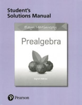 Omslag - Student Solutions Manual for Prealgebra