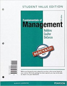 Fundamentals of Management, Student Value Edition Plus 2017 Mymanagementlab with Pearson Etext -- Access Card Package av Stephen P Robbins, Mary A Coulter og David A De Cenzo (Blandet mediaprodukt)