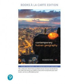Contemporary Human Geography, Books a la Carte Plus Mastering Geography with Pearson Etext -- Access Card Package av James M. Rubenstein (Blandet mediaprodukt)